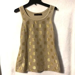 The Limited XS Tank Top with Gold Embellishment